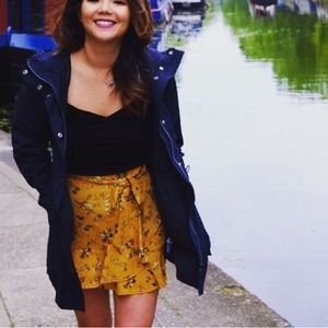 Topshop floral wrap mini skirt